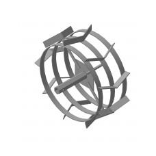 Грунтозацеп  (пара) S-24 445.180 МБ 6-тигранная сквозная втулка, 3 обода